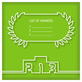 Winners podium template with list of winners Royalty Free Stock Photography