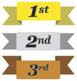Winners Ribbons Royalty Free Stock Image