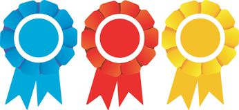 Winners Rosettes prizes Stock Image