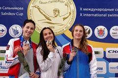 Winners of Salnikov Cup Royalty Free Stock Photo
