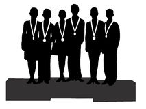 The winners at sport, icon, vector Stock Photos