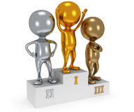 Winners on sports podium  on white Stock Photo