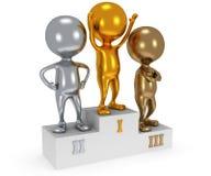Winners on sports podium  on white Stock Photo