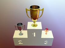 The winners, stand Royalty Free Stock Photography