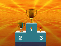The winners, stand Royalty Free Stock Images