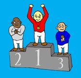 Winners stand Royalty Free Stock Photo
