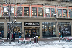 Winners store location Royalty Free Stock Images