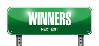 Winners street sign illustration design Stock Photography