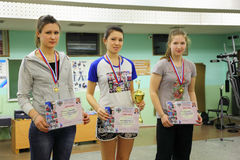 Winners at Traditional Championship archery Stock Images