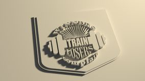 Winners train losers complain. Gym and Fitness Motivation Quote. Creative Typography Poster Concept. Letters and dumbbell icons. Body building relative. Shield Royalty Free Stock Photography