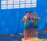 Winners At Triathlon Royalty Free Stock Image
