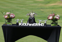 Winners Trophy Table Gary Player Charity Invitational 2015 Stock Images
