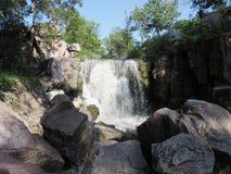 Winnewissa Falls. Winnesissa Falls cut through Sioux Quartzite stone in Pipe stone National Monument stock image