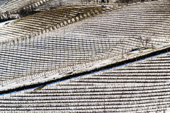 Winniców wzgórza pod śniegiem w Langhe regionie w Włochy Zdjęcia Stock