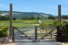 winnica drewniany wejściowa brama Zdjęcia Stock