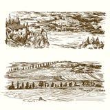 Winnica krajobrazu rolniczego ilustracji