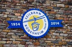 Winnicy w Ruedesheim am Rhine Obrazy Royalty Free