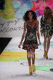 Winnie Harlow walks the runway at the Desigual fashion show during Mercedes-Benz Fashion Week Fall 2015 Royalty Free Stock Photo