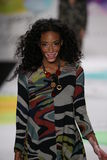 Winnie Harlow walks the runway at the Desigual fashion show during Mercedes-Benz Fashion Week Fall 2015 Stock Image