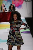 Winnie Harlow walks the runway at the Desigual fashion show during Mercedes-Benz Fashion Week Fall 2015 Stock Photos