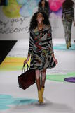 Winnie Harlow walks the runway at the Desigual fashion show during Mercedes-Benz Fashion Week Fall 2015 Royalty Free Stock Photography