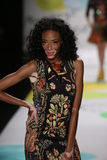 Winnie Harlow walks the runway at the Desigual fashion show during Mercedes-Benz Fashion Week Fall 2015 Royalty Free Stock Image
