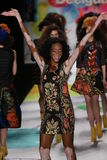Winnie Harlow walks the runway at the Desigual fashion show during Mercedes-Benz Fashion Week Fall 2015 Stock Photography