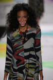 Winnie Harlow walks the runway at the Desigual fashion show during Mercedes-Benz Fashion Week Fall 2015 Stock Images