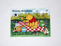 Winnie the pooh. Stamps of the famous winnie the pooh cartoon Stock Photo