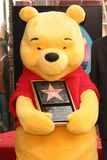 Winnie The Pooh at the ceremony honoring the Disney Character with a star on the Hollywood Walk of Fame. Hollywood Boulevard, Holl Royalty Free Stock Photos