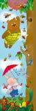 Winnie Pooh e leitão Fotografia de Stock