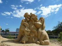 Winnie the Pooh. And his friends made of sand Stock Photos