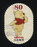 Winnie Pooh. RUSSIA KALININGRAD, 22 APRIL 2016: stamp printed by Japan shows Winnie-the-Pooh, circa 2012 Stock Image