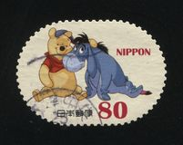 Winnie Pooh. RUSSIA KALININGRAD, 22 APRIL 2016: stamp printed by Japan shows Winnie-the-Pooh, circa 2012 Stock Images