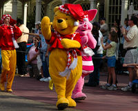 Winnie the Pooh. Walks in the Walt Disney World Holiday Parade in Orlando, FL Royalty Free Stock Photography