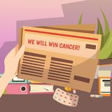 Winning Against Cancer Orthogonal Composition Royalty Free Stock Photo