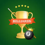 Winning Billiards. Vector Stock Image