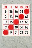 Winning bingo card. Stock Images