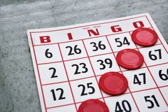 Winning bingo card. Royalty Free Stock Photo