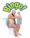 Winning Bingo Toilet Entertainment Illustration Stock Image