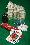 A winning blackjack hand Royalty Free Stock Images