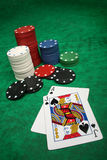 A winning blackjack hand Royalty Free Stock Photos