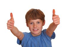 Winning boy Royalty Free Stock Photography