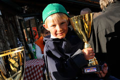 Winning boy Stock Photography