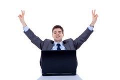 Winning business man royalty free stock photography