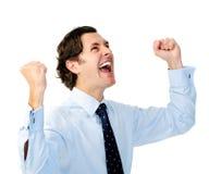 Winning business man Royalty Free Stock Image