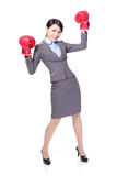 Winning business woman Stock Photos
