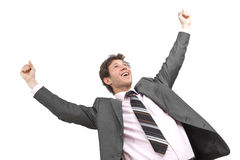 Winning businessman stock photo