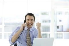 Winning Businessman Royalty Free Stock Image