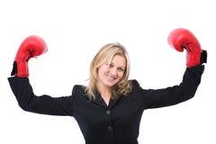 Winning businesswoman royalty free stock photo
